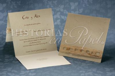 Invitaciones Rústicas y Playa para boda 18R