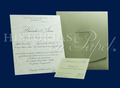 Invitaciones Clásicas para boda ABM