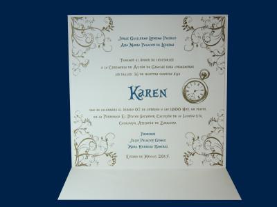 Invitaciones sociales para XV años X144