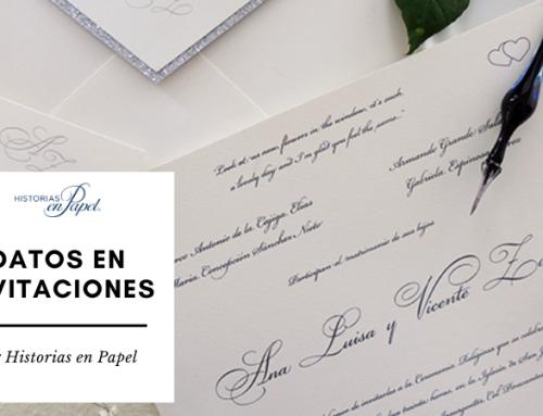 ¿Qué datos deben de ir en las invitaciones de boda?