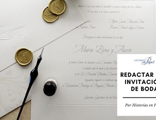 ¿Cómo es la manera correcta de la redacción de invitaciones de boda?