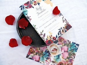 invitaciones con rosas