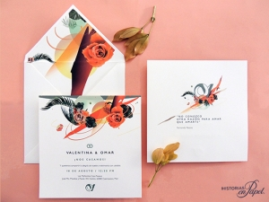 invitacion rosa