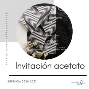 Invitacion en acetato