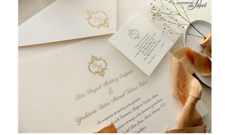 Monogramas en las invitaciones de boda