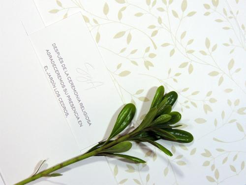 Invitación clásica greenery