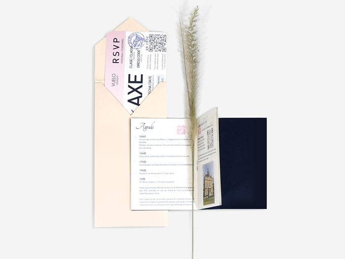 Invitacion diseño pasaporte