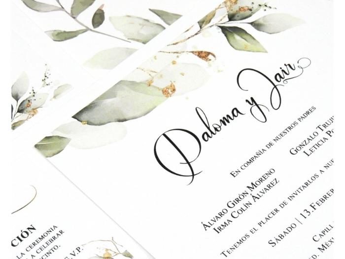 Invitación Forest & Woodland Wedding