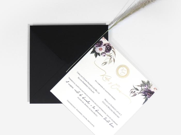 Invitación negra-